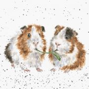 Wrendale Lettuce be Friends Guinea Pig Greeting Card